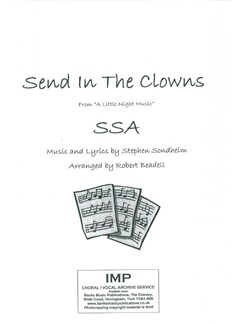 Stephen Sondheim: Send In The Clowns (SSA) Books | SSA, Piano Accompaniment