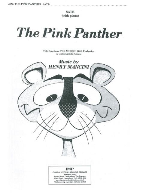 Henry Mancini The Pink Panther Piano Accompaniment Sheet Music