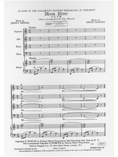 Henry Mancini: Moon River (Breakfast at Tiffany's) - SATB/Piano Books | SATB