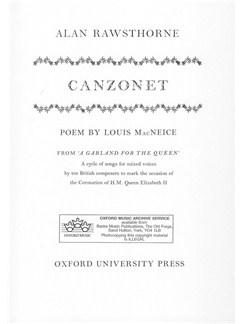 Alan Rawsthorne: Canzonet Books | Soprano, SATB