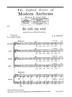 C. H. Kitson: Be Still My Soul Books | SATB, Organ Accompaniment