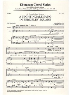 Sherwin Manning: A Nightingale Sang In Berkeley Square (Arr. Michael Neaum) Books | SSAA, Piano Accompaniment