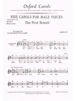 Ralph Vaughan Williams: The First Nowell Books | Voice, Men's Voices