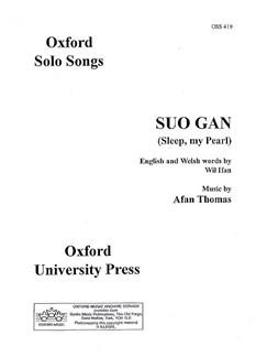 Afan Thomas: Suo Gan (Sleep, My Pearl) Books | Voice, Piano Accompaniment