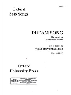 Victor Hely-Hutchinson: Dream Song Books | Voice, Piano Accompaniment