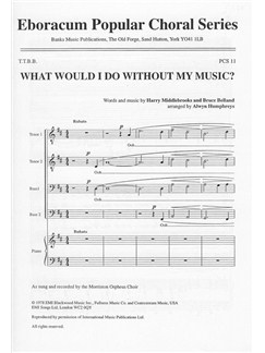 Harry Middlebrooks And Bruce Belland: What Would I Do Without Music (TTBB) Books | TTBB, PFA