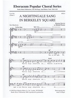 Manning Sherwin: A Nightingale Sang In Berkeley Square (SATB) Books | SATB