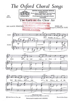 The Lark In The Clear Air (Unison) Books | Unison Voice, Piano Accompaniment