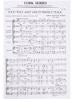 S. S. Wesley: Thou Wilt Keep Him In Perfect Peace Books | SATB, Organ Accompaniment