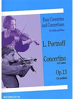 Leo Portnoff: Violin Concertino In E Minor Op.13 Books | Violin, Piano Accompaniment