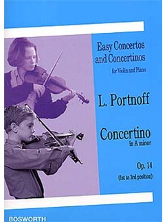 Leo Portnoff: Concertino in A Minor For Violin And Piano Op.14 Books | Violin, Piano
