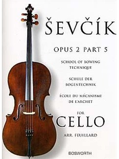 Sevcik Cello Studies: School Of Bowing Technique Part 5 Books | Cello
