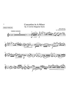 Oskar Rieding: Concertino In A Minor (Score And Parts) Books | Violin, String Orchestra