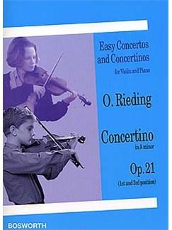 Oskar Rieding: Concertino In A Minor For Violin And Piano Op.21 Livre | Violon, Accompagnement Piano