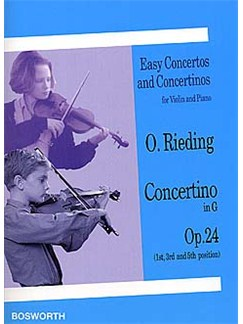 Oskar Rieding: Concertino In G Op.24 (Violin/Piano) Livre | Violon, Accompagnement Piano