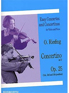 Oskar Rieding: Concertino For Violin And Piano In D Op.25 Books | Violin, Piano Accompaniment