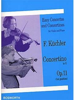 Ferdinand Kuchler: Concertino In G Op.11 (Violin/Piano) Livre | Violon, Accompagnement Piano
