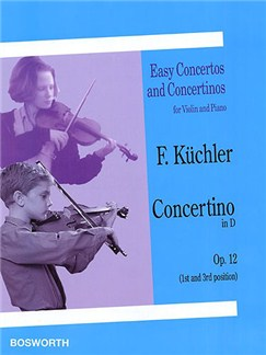 Ferdinand Kuchler: Concertino In D Op.12 Livre | Violon, Accompagnement Piano