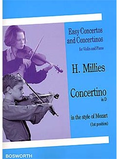 Hans M. Millies: Concertino In D In The Style Of Mozart Livre | Violon, Accompagnement Piano