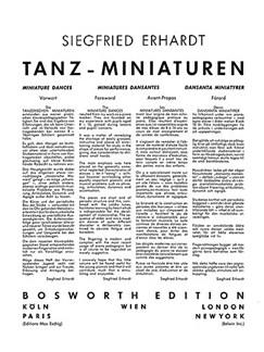 Erhardt, S Miniature Dances Pf Buch | Klavier