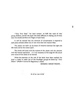 Barbara Kirkby-Mason: Very First Step For Piano Books   Piano