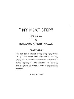 Kirkby-mason My Next Step Easy Pf Books | Piano