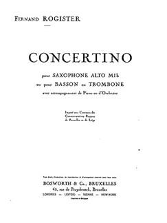 Rogister, F Concerto Asax,tbn/Pf Buch | Alt-Saxophon, Posaune, Klavierbegleitung