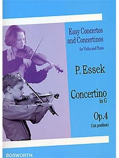 Paul Essek: Concertino in G Op.4 Livre | Violon, Accompagnement Piano