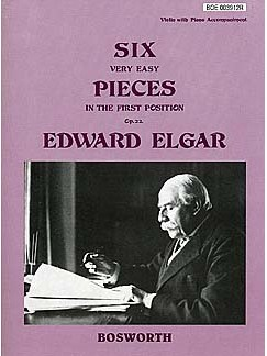 Edward Elgar: Six Very Easy Pieces For Violin Op.22 Books | Violin, Piano Accompaniment