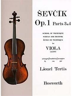 Sevcik Viola Studies: School Of Technique Parts 3 And 4 Livre | Viola
