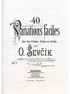 Sevcik Violin Studies: 40 Variations Piano Accompaniment Books | Violin