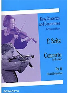Friedrich Seitz: Concerto in G Minor For Violin And Piano Op.12 Livre | Violon, Accompagnement Piano