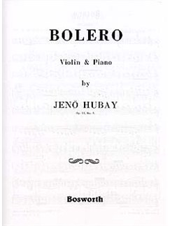 Jeno Hubay: Bolero Op.51 No.3 Books | Violin, Piano Accompaniment