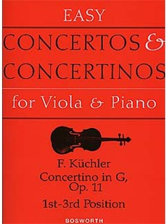 Ferdinand Kuchler: Concertino in G Op.11 (Viola/Piano) Livre | Viola, Accompagnement Piano