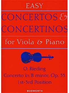 Oskar Rieding: Concerto in B Minor For Viola And Piano Op.35 Books | Viola, Piano Accompaniment