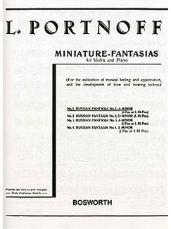 Leo Portnoff: Russian Fantasia No.1 in A Minor Books | Violin, Piano