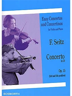 Friedrich Seitz: Concerto In D For Violin And Piano Op.15 Books | Violin, Piano