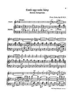 Franz Drdla: Hungarian Dances Op.30 No.8 'Csak Egy Szep Lany' Buch | Violine, Klavierbegleitung