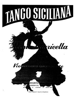 Remo Lauricella: Tango Siciliano (Violin/Piano) Books | Violin, Piano