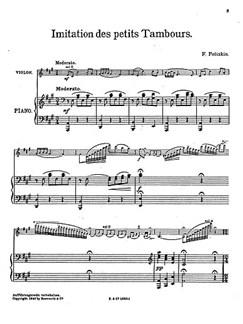 Poliakin, J Imitation Des Petits Tamboura Vln/Pf Buch | Violine, Klavierbegleitung
