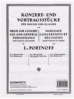 Leo Portnoff: Slavonic Cradle-Song For Violin And Piano Books | Violin, Piano