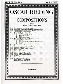 Oskar Rieding: Gypsies' March Op.23 No.2 Violin And Piano Livre | Violon, Accompagnement Piano