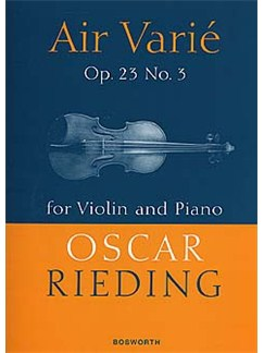 Oscar Rieding: Air Varie Op.23 No.3 Books | Violin, Piano Accompaniment