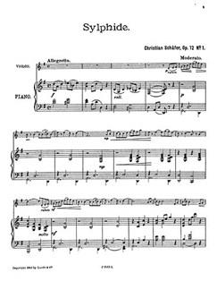 Schafer, C Sylphide Op.12 Vln/Pf Buch | Violine, Klavierbegleitung