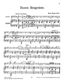 Guido Papini: Hungarian Dance No.3 In A For Violin And Piano Books | Violin, Piano