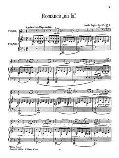 Guido Papini: Romance In F For Violin And Piano Books | Violin, Piano