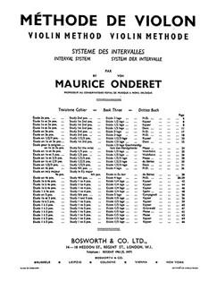 Maurice Onderet: Violin Method Book 3 Books | Violin
