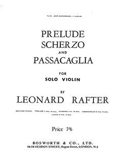 Rafter, L Prelude Scherzo And Passacaglia Vln/Pf Buch   Violine, Klavierbegleitung