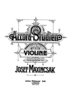 Maxincsak Chord Studies Vln  |