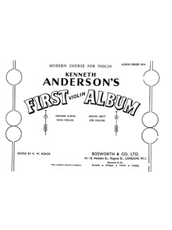 Kenneth Anderson: First Violin Album Books | Violin